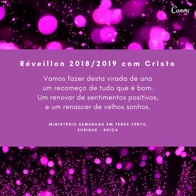 Réveillon 2018 / 2019 com Cristo
